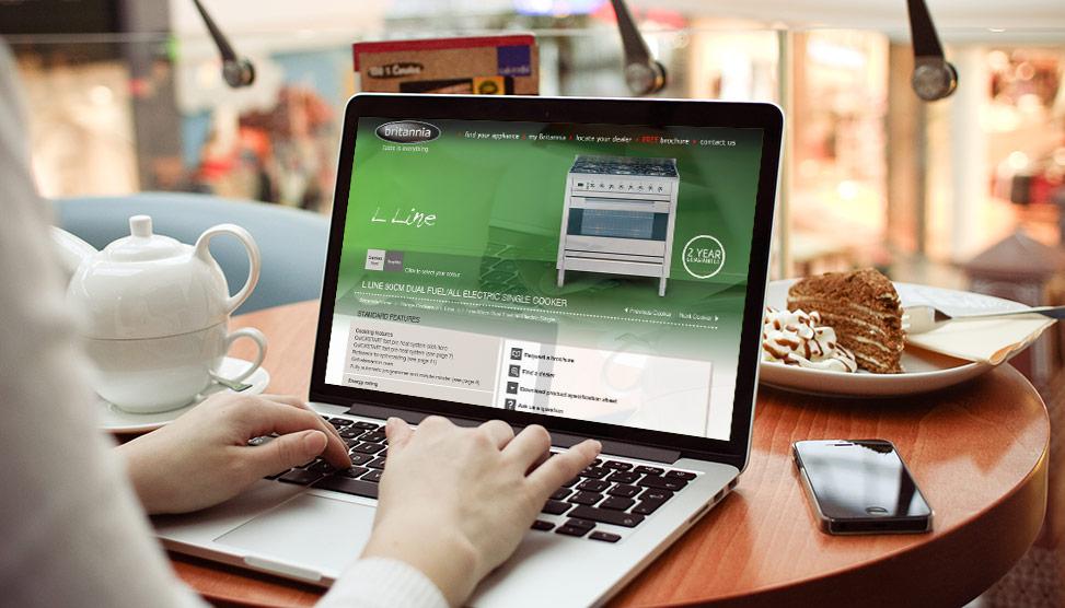 britannia website design