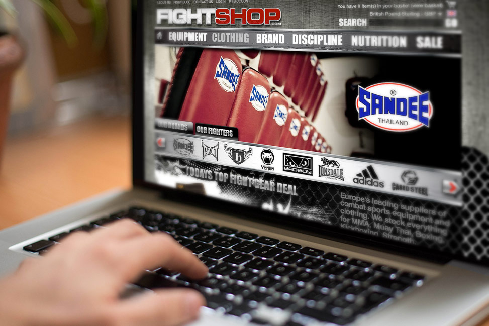 Fightshop retail website design