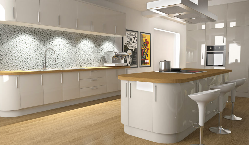 c4d kitchen render