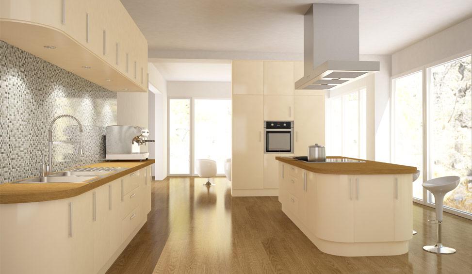 c4d kitchen render