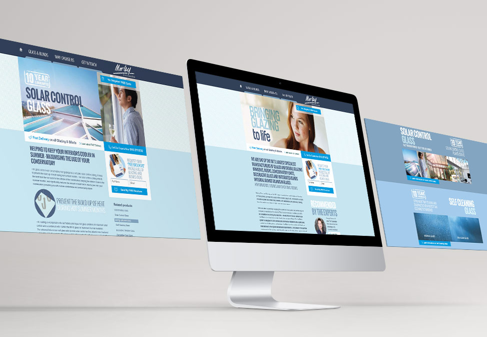 morley glass website design