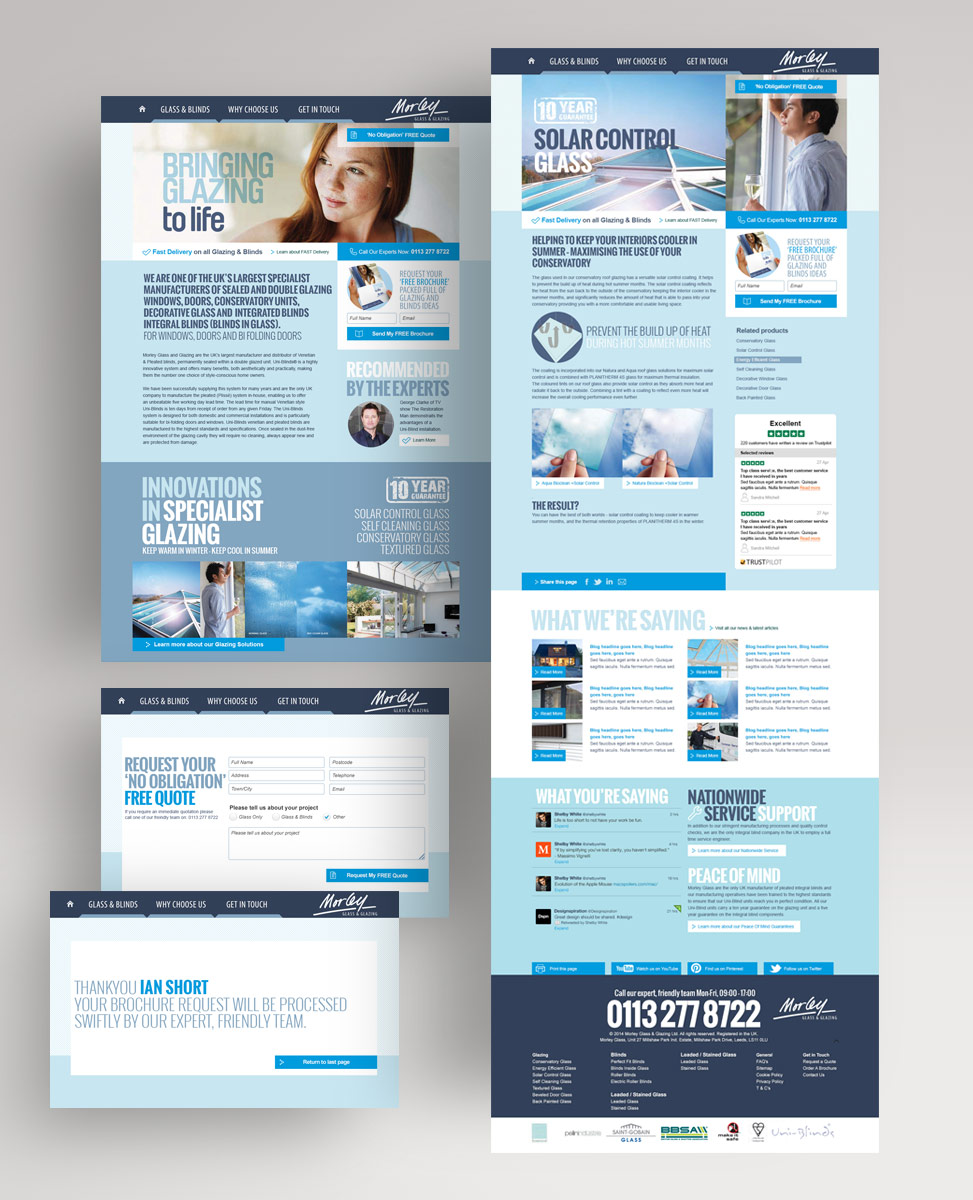 responsive website design for morley glass