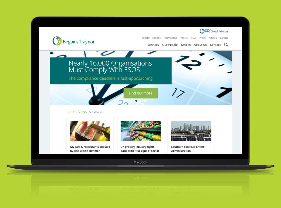 begbies trayner website design