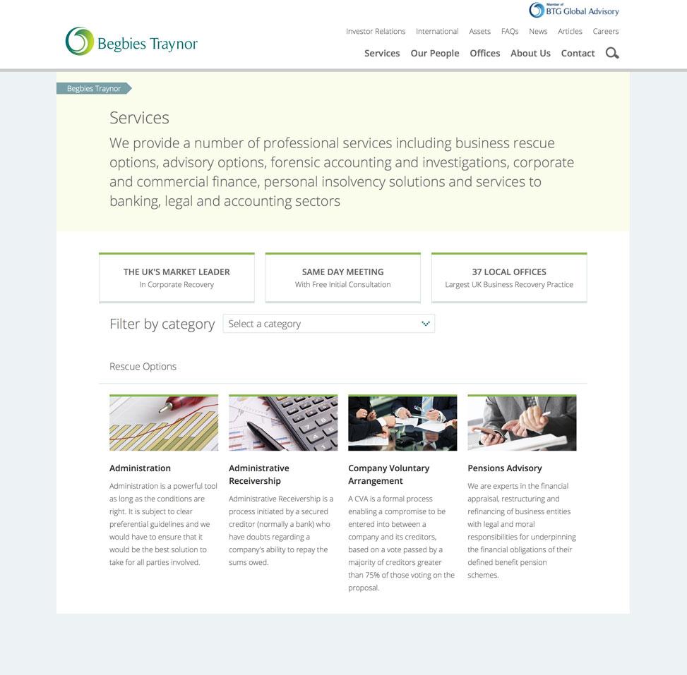 corporate website deign